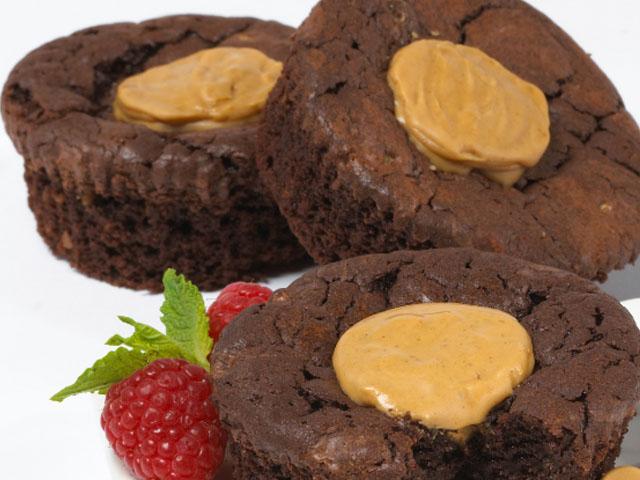 Lava-licious Fudge Cakes - Peanut Butter